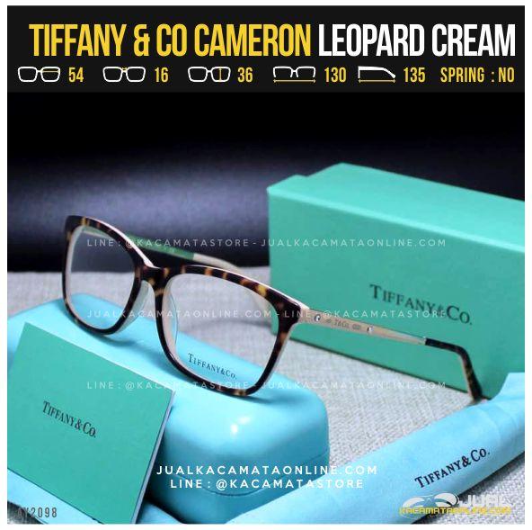 Harga Frame Kacamata Minus Cewek Tiffany Cameron Leopard Cream