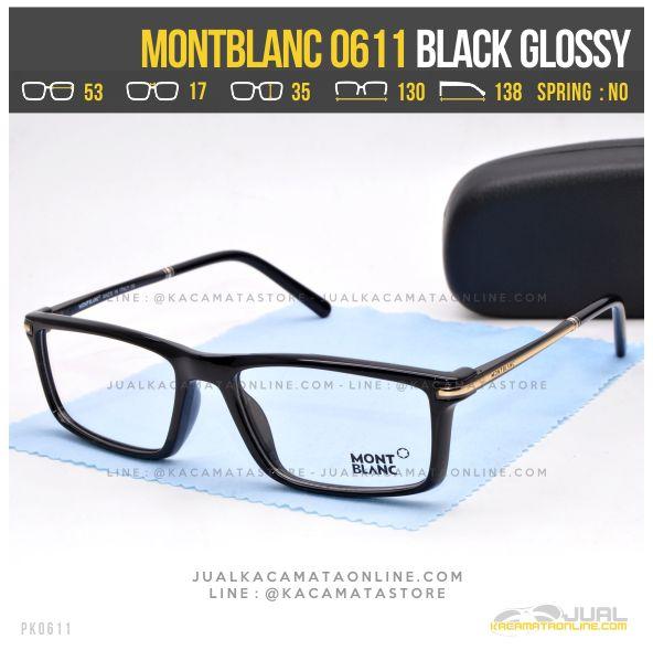 Trend Frame Kacamata Optik MontBlanc 0611 Black Glossy