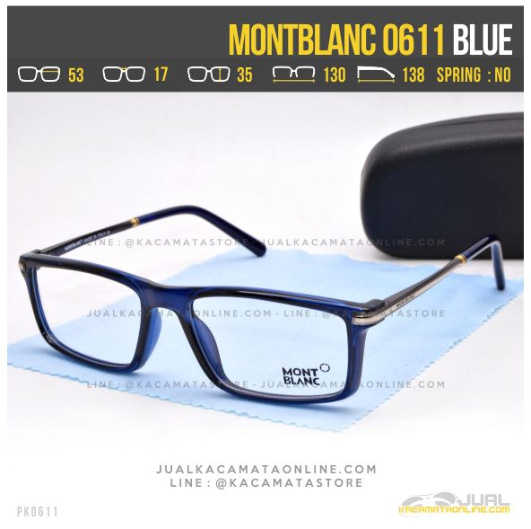 Model Frame Kacamata Optik MontBlanc 0611 Blue