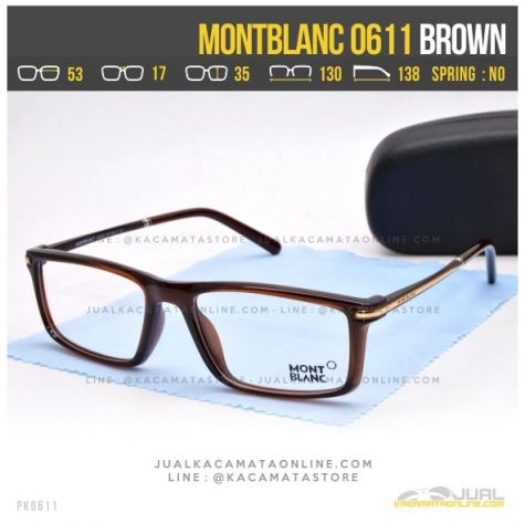 Gambar Frame Kacamata Optik MontBlanc 0611 Brown