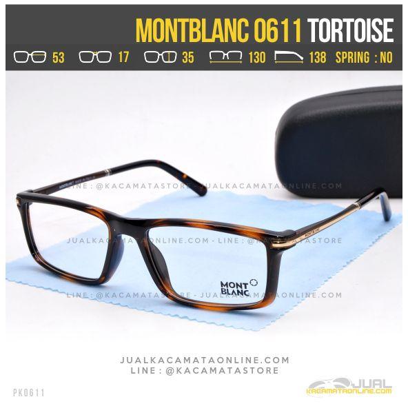 Jual Frame Kacamata Optik MontBlanc 0611 Tortoise