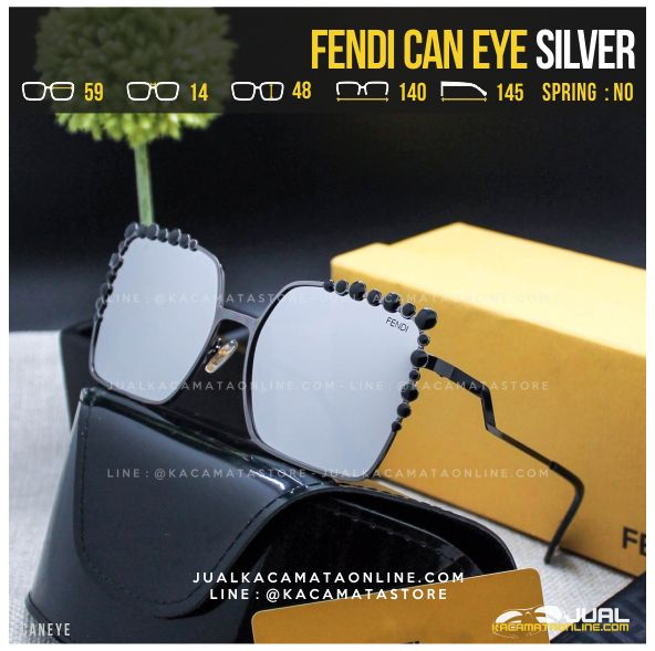 Jual Kacamata Artis Fendi Can Eye Silver