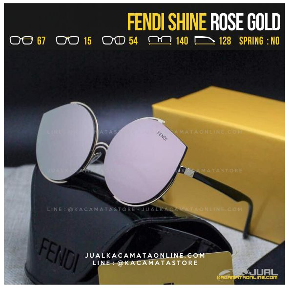 Jual Kacamata Artis Fendi Shine Rose Gold