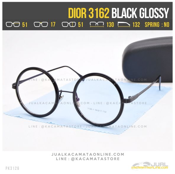 Harga Kacamata Bulat Dior 3162 Black Glossy