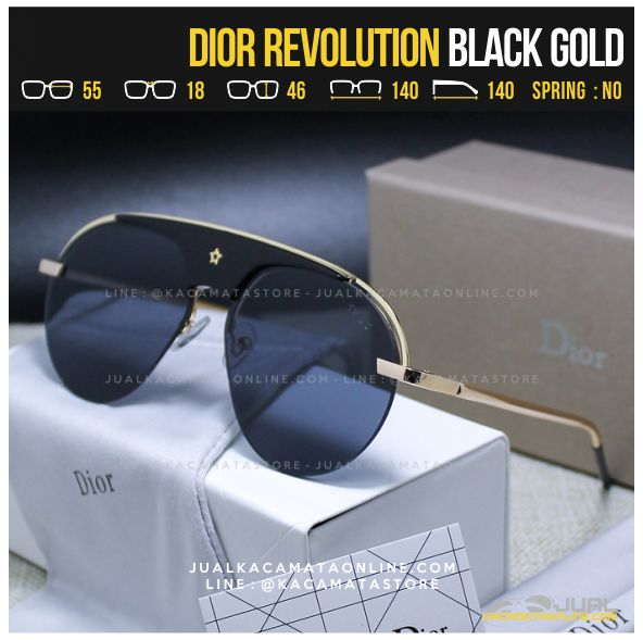 Model Kacamata Fashion Terbaru Dior Revolution Black Gold