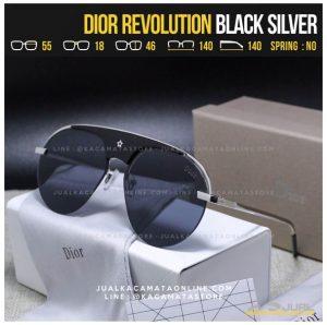 Kacamata Fashion Terbaru Dior Revolution Black Silver