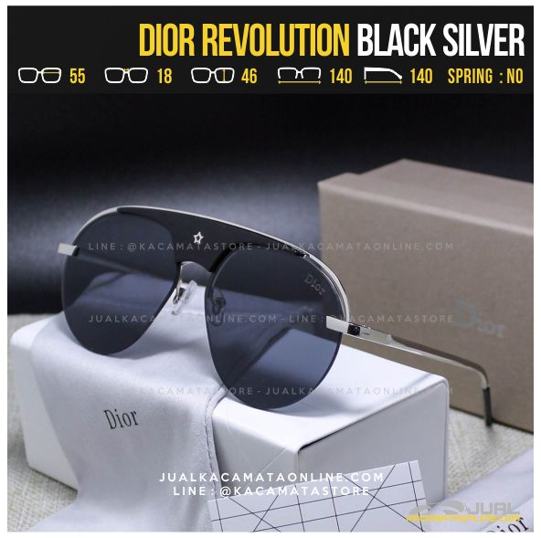 Kacamata Fashion Terbaru Dior Revolution Black Silver