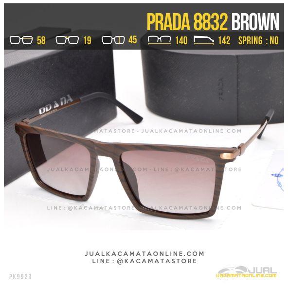 Trend Kacamata Gaya Prada 8832 Brown