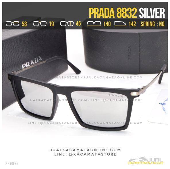 Gambar Kacamata Gaya Prada 8832 Silver