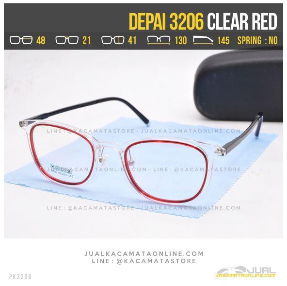 Harga Kacamata Korea Terbaru Depai 3206 Clear Red