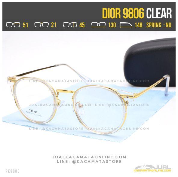 Gambar Kacamata Minus Bulat Dior 9806 Clear