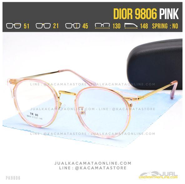 Trend Kacamata Minus Bulat Dior 9806 Pink