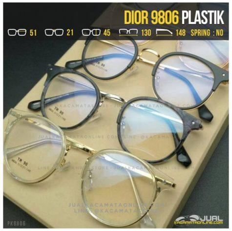 Jual Kacamata Minus Bulat Dior 9806 Terbaru