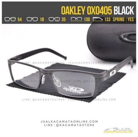 Jual Kacamata Minus Cowok Oakley OX0405 Alloy Black