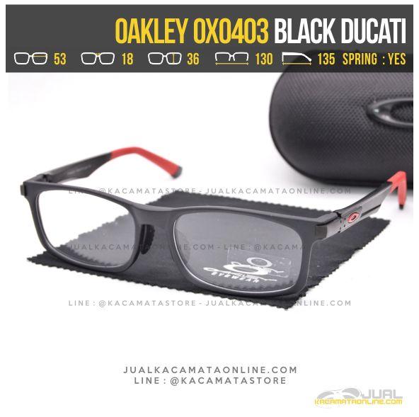 Trend Kacamata Minus Pria Oakley OX0403 Alloy Black Ducati