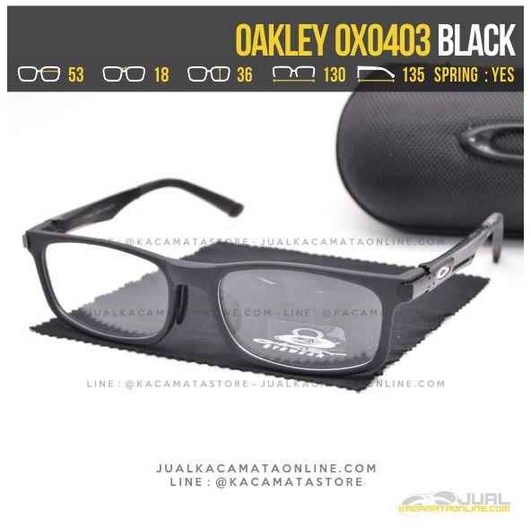 Jual Kacamata Minus Pria Oakley OX0403 Alloy Black