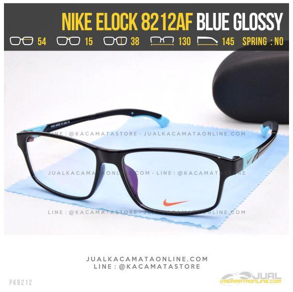 Model Kacamata Minus Sporty Nike 8212AF Blue Glossy