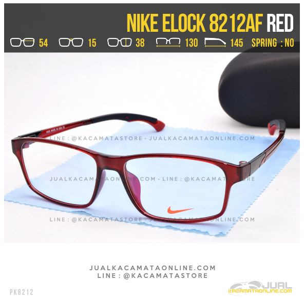 Gambar Kacamata Minus Sporty Nike 8212AF Red