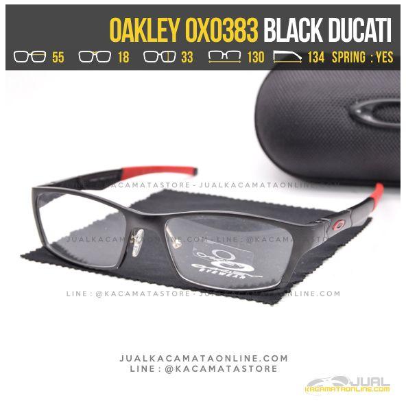 Model Kacamata Optik Terbaru Oakley OX0383 Alloy Black Ducati