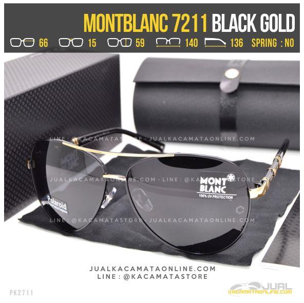 Harga Kacamata Sporty MontBlanc 7211 Black Gold