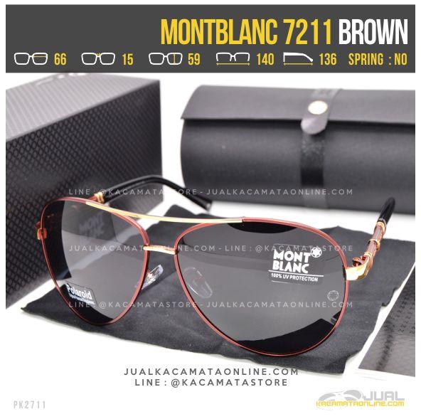 Model Kacamata Sporty MontBlanc 7211 Brown