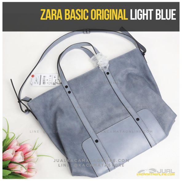 Jual Tas Wanita Zara Basic Original Light Blue
