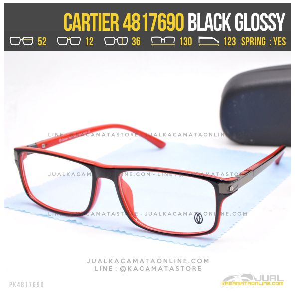 Trend Frame Kacamata Baca Cartier 4817690 Red