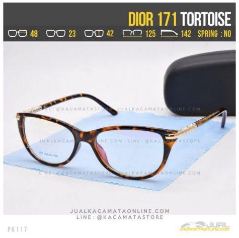 Model Kacamata Minus Cewek Dior 171 Tortoise