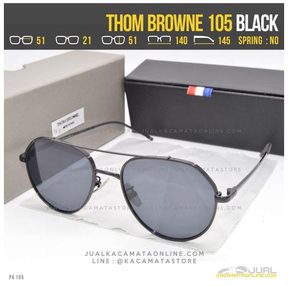 Trend Kacamata Artis Terbaru Thom Browne 105 Black