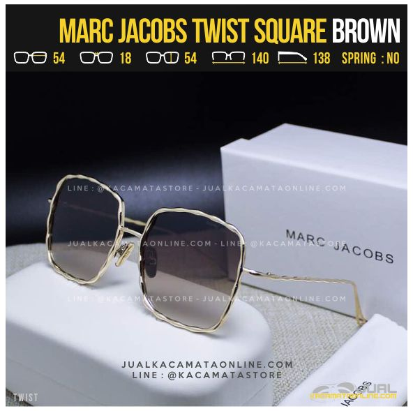 Harga Kacamata Artis Terlaris Marc Jacobs Twist Square Brown