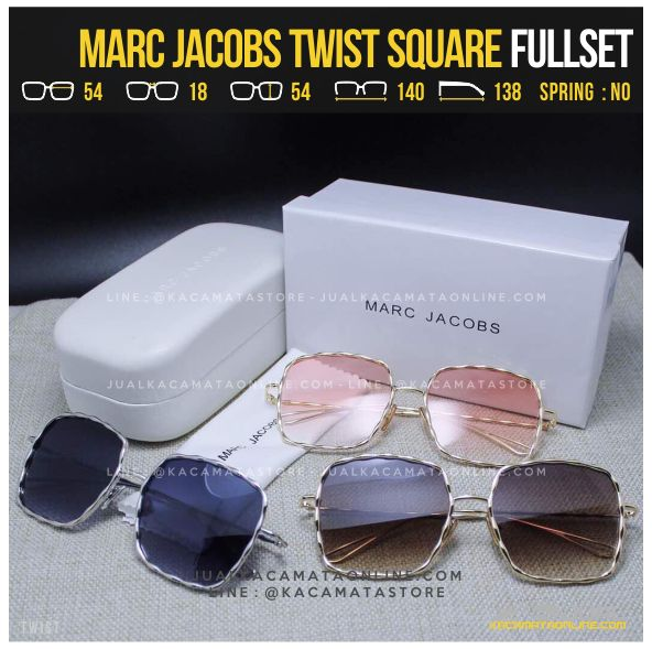 Model Kacamata Artis Terlaris Marc Jacobs Twist Square