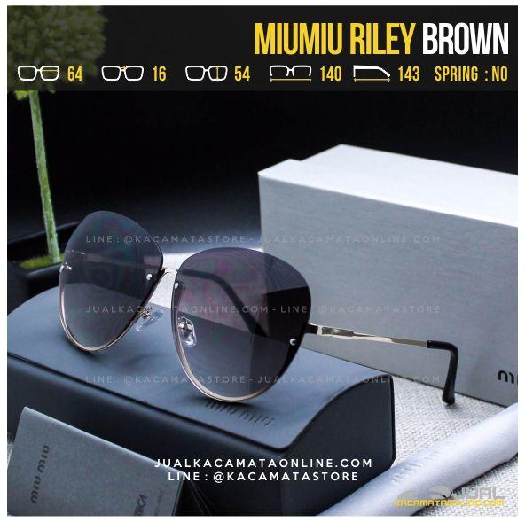 Jual Kacamata Cewek Terlaris MiuMiu Riley Brown