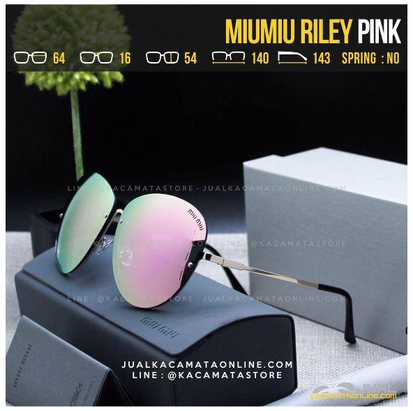 Model Kacamata Cewek Terlaris MiuMiu Riley Pink