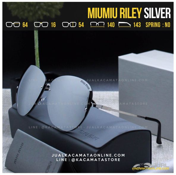 Harga Kacamata Cewek Terlaris MiuMiu Riley Silver