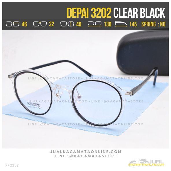 Jual Kacamata Korea Terbaru Depai 3202 Clear Black