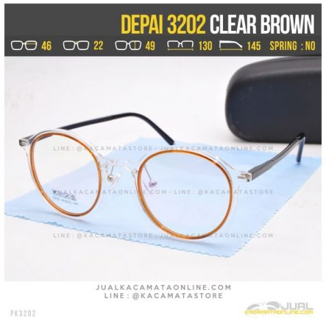 Model Kacamata Korea Terbaru Depai 3202 Clear Brown