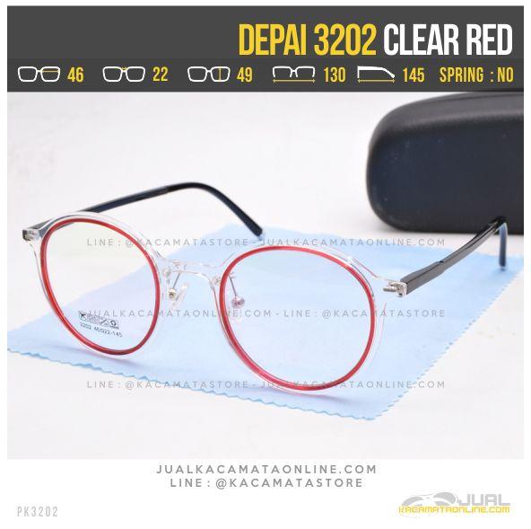 Gambar Kacamata Korea Terbaru Depai 3202 Clear Red