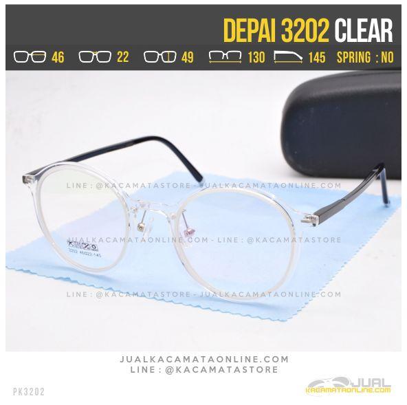 Harga Kacamata Korea Terbaru Depai 3202 Clear