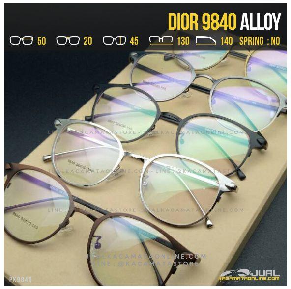 Model Kacamata Minus Bulat Terbaru Dior 9840