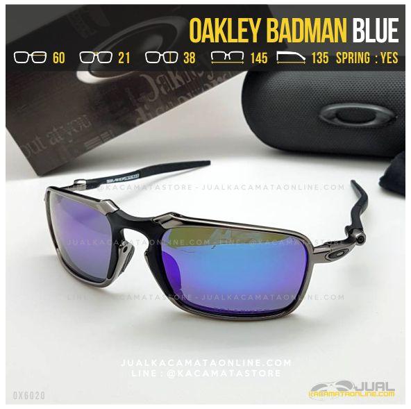 Gambar Kacamata Oakley Terbaru Badman Titanium Blue
