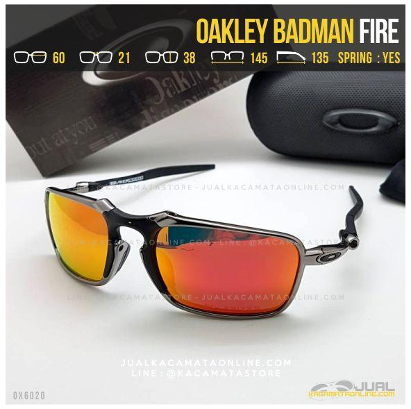 Model Kacamata Oakley Terbaru Badman Titanium Fire