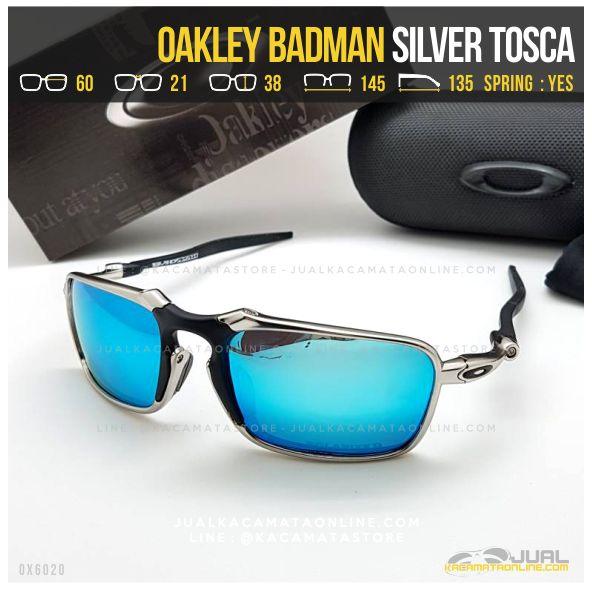 Trend Kacamata Oakley Terbaru Badman Titanium Silver Tosca