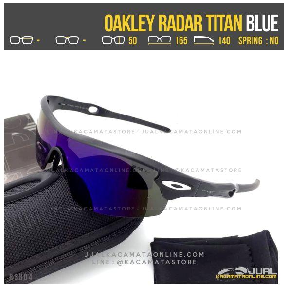 Gambar Kacamata Sepeda Terbaru Oakley Radar Titanium Blue