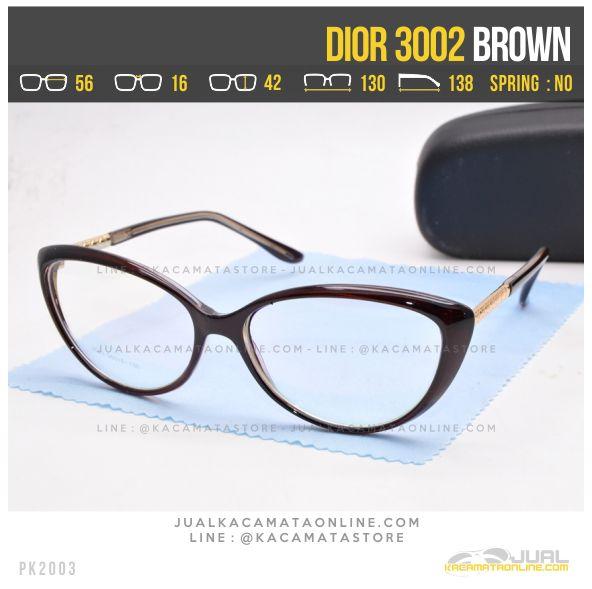 Grosir Kacamata Minus Cewek Terbaru Dior 3002 Brown