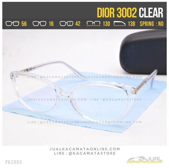 Model Kacamata Minus Cewek Terbaru Dior 3002 Clear