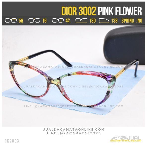 Jual Kacamata Minus Cewek Terbaru Dior 3002 Pink Flower