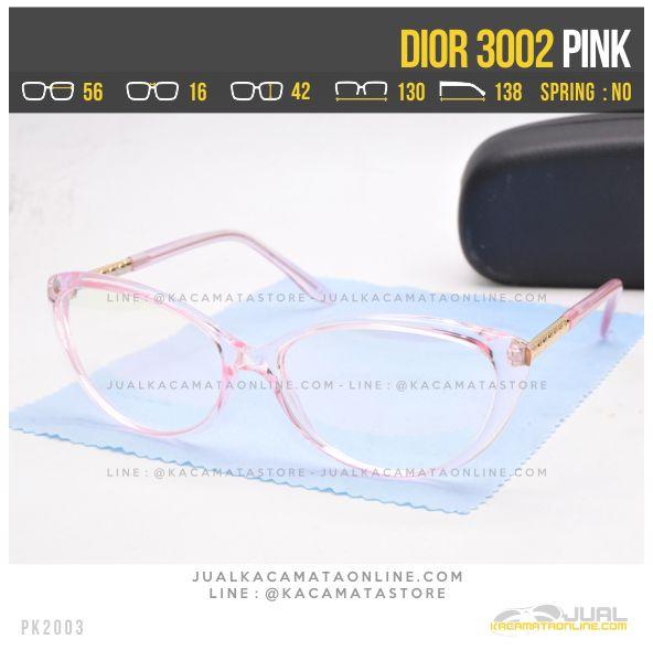 Gambar Kacamata Minus Cewek Terbaru Dior 3002 Pink