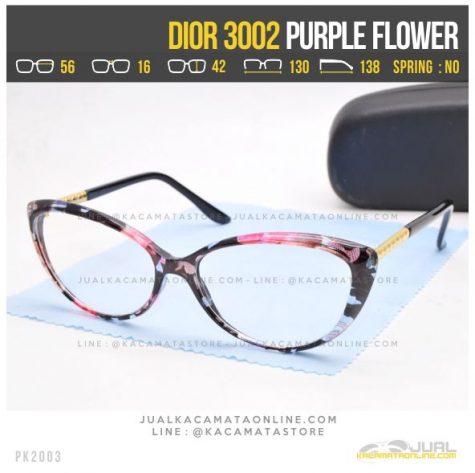 Trend Kacamata Minus Cewek Terbaru Dior 3002 Purple Flower