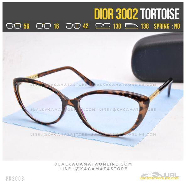 Model Kacamata Minus Cewek Terbaru Dior 3002 Tortoise