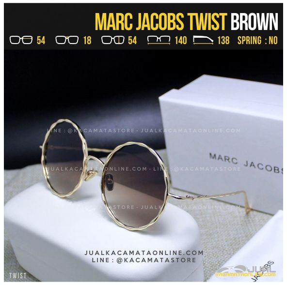 Model Kacamata Artis Terbaru Marc Jacobs Twist Brown